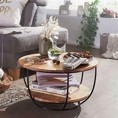 runde couchtische loft design couchtisch cava aus akazie massivholz und