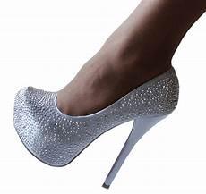 Gray High Heels For Wedding