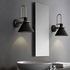 modern 1 light cone indoor wall sconce metal tapered shade