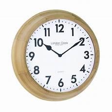 light wooden quartz battery wall clock 24375