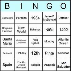 free printable columbus day bingo cards and bingo