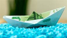 how to fold a money origami ship easy boat folding