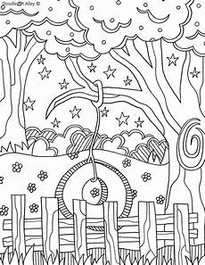 25 beautifully illustarted free summer coloring pages for