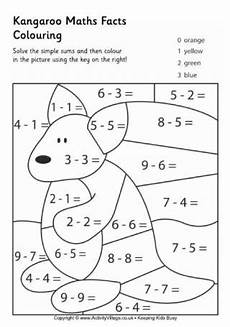 animal maths facts colouring pages