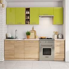 cuisine chene clair ensemble cuisine 2m40 ch 234 ne clair et vert