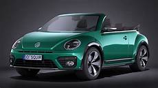 volkswagen beetle cabrio 2017 3d model max obj 3ds fbx