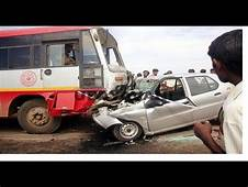 Bus And Car Accident In Traffic ☀ Fight India  YouTube