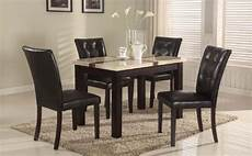 5 pc faux marble top dinette dinning dining table 4 chairs furniturendecor com
