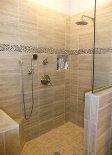 Tile Shower No Door