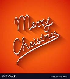 text design of merry christmas color vector image