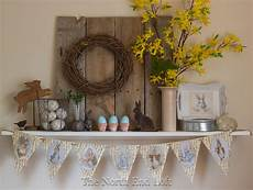 Rustic Easter the end loft rustic easter fantel