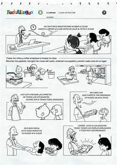clean up routine worksheet rockalingua clases de