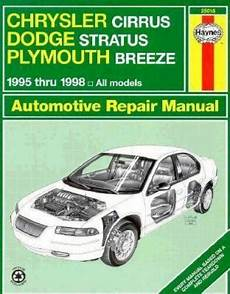 online car repair manuals free 1996 dodge stratus security system haynes automotive repair manual haynes chrysler cirrus dodge stratus and plymouth breeze 1994
