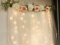 diy lit tulle backdrop ella baby shower decorations