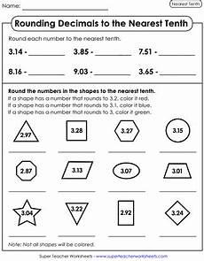 rounding decimals worksheets