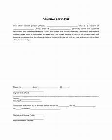 2020 general affidavit fillable printable pdf forms handypdf