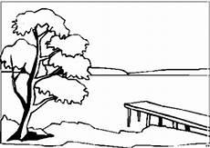 malvorlagen landschaften gratis und original see mit steg 2 ausmalbild malvorlage landschaften