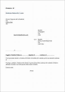 disdetta polizza casa lettera disdetta affitto business e educazione modello