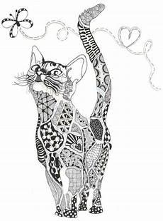 Ausmalbilder Katzen Erwachsene Katze Ausmalbild Einfach 1ausmalbilder