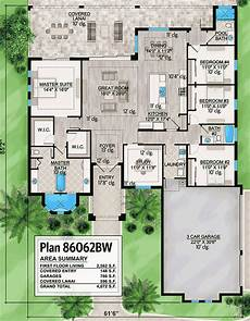 single level house plans one story house plan with open floor plan 86062bw