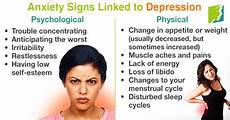Depressionen Symptome Frau - anxiety signs linked to depression