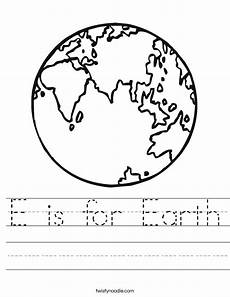 planet earth worksheets for kindergarten 14458 e is for earth worksheet twisty noodle