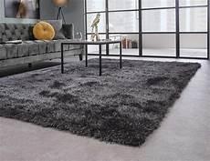 teppich anthrazit sch 246 ner und weicher hochflor teppich chester 23 anthrazit