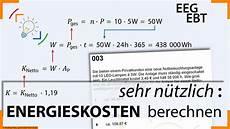 formeln zum berechnen der energiekosten f 252 r strom sprich