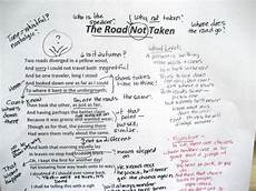 poetry analysis worksheet for the road not taken 25514 annotation mr murdock s literature page