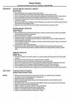 library associate resume sles velvet jobs