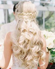 28 half up half down wedding hairstyles we love martha stewart weddings
