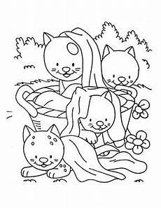 Malvorlagen Katzenbabys Kostenlos Ausmalbild Katzenbabys Im Garten Zum Ausmalen