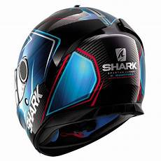 casque shark spartan carbon guintoli carbon chrom blue