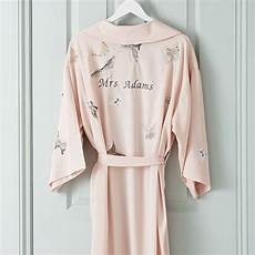 Personalised Dressing Gowns For Weddings personalised bridal butterfly dressing gown by mini