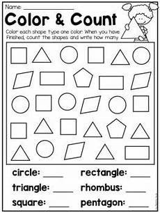kindergarten 2d and 3d shapes worksheets by my teaching
