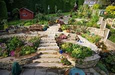 Hillside Terraced Landscape Patio Creative Ways To Work
