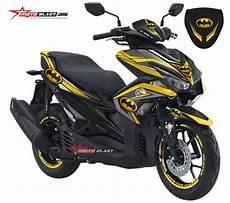 Modifikasi Striping Aerox 155 by Modifikasi Striping Yamaha Aerox 155 Black Batman Motoblast