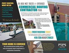 flyer brochure design nowmg nowmarketinggroup frostroofing http roofing com