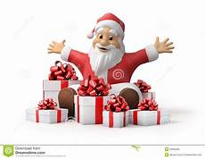 santa claus with gifts stock illustration illustration of