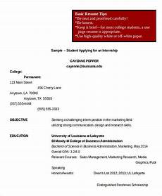 college student resume 8 free word pdf documents