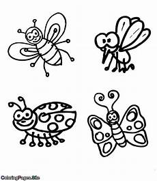 flying bugs coloring page
