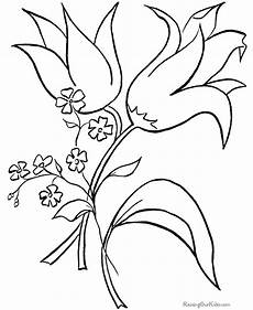 easter flower coloring page 004