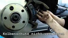 wechseln der bremsscheiben anleitung einsetzen einlegen