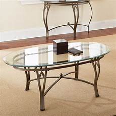 steve silver madrid oval glass top coffee table coffee