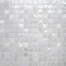 Carrelage Mosaique Nacre V 233 Ritable Blanc Pur 2x2 Cm