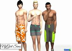 nygirl sims 4 s swim trunk three pack tenue homme