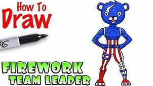 How To Draw Firework Team Leader  Fortnite YouTube