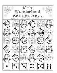 winter cvc worksheets 19980 winter cvc roll read and cover cvc words reading school themes