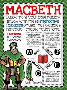 grammar worksheets 24929 macbeth reading and writing interactive notebook foldable plays student and shakespeare macbeth