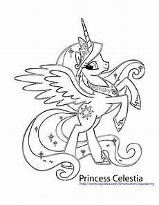 princess celestia my pony coloring unicorn